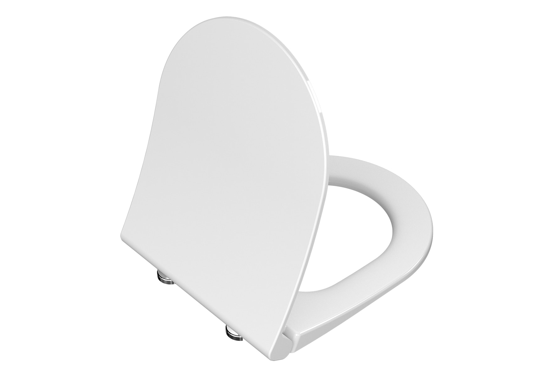 Universal Slim Wc Seat Model 2 – Round Form (Duroplast, Soft-Closing, Detachable Metal Hinge, Top Fixing)