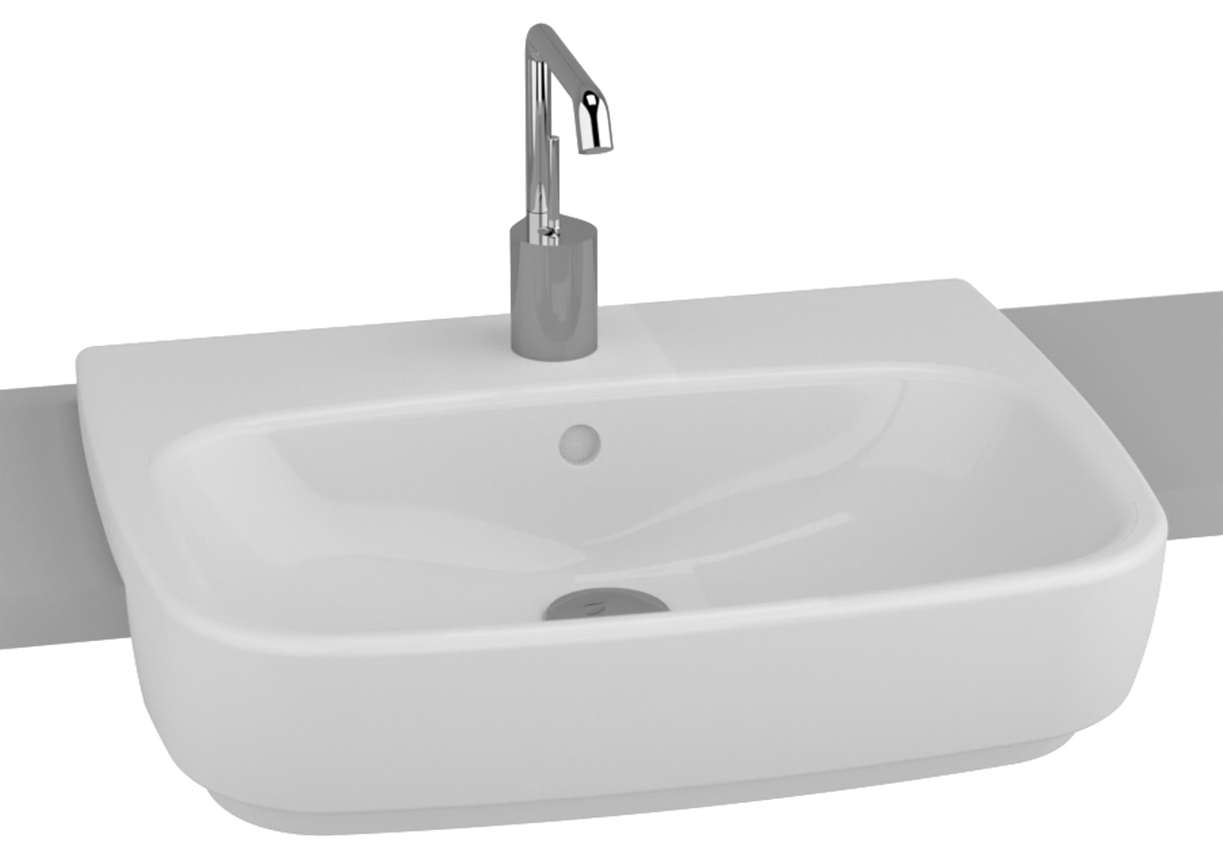 Shift Recessed Basin, 55cm
