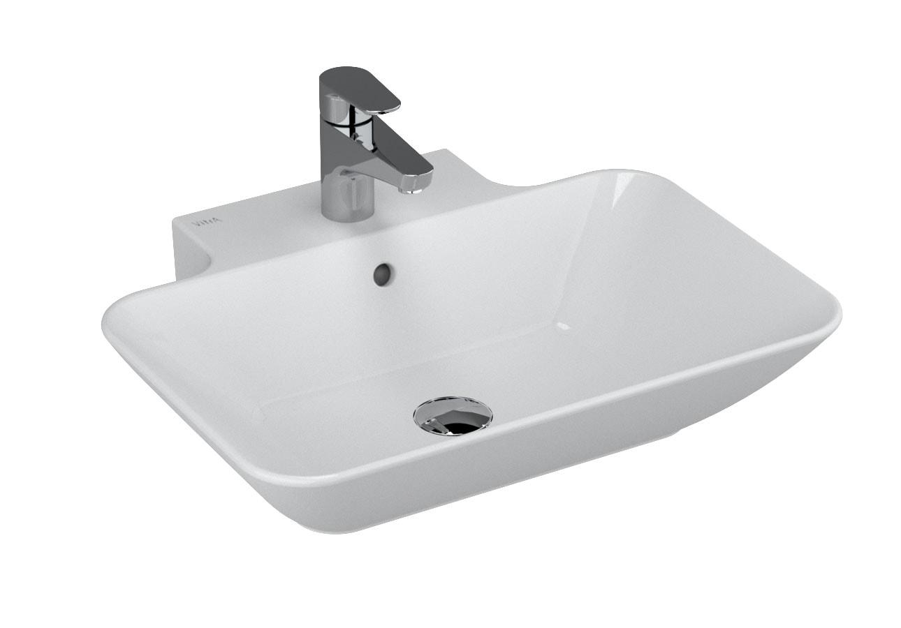 Geo Rectangular Washbasin, 60 cm