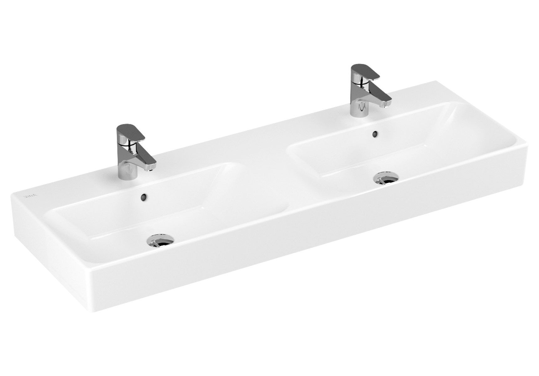 Nuo Washbasin with Two Bowls, 130cm