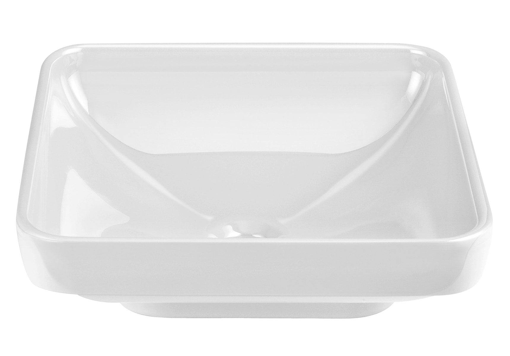 Water Jewels Square Bowl, 40cm White