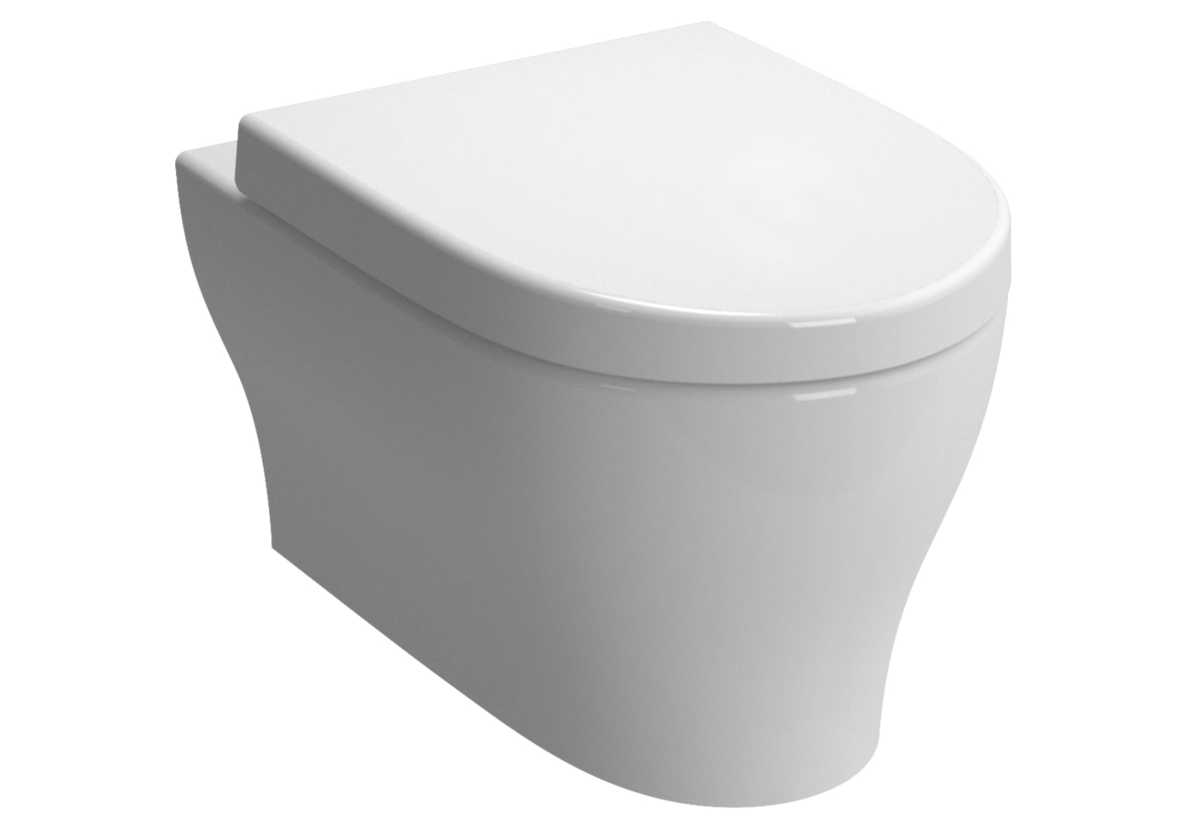 Bella Wall-Hung WC Pan, 54 cm, Without Nozzle, White