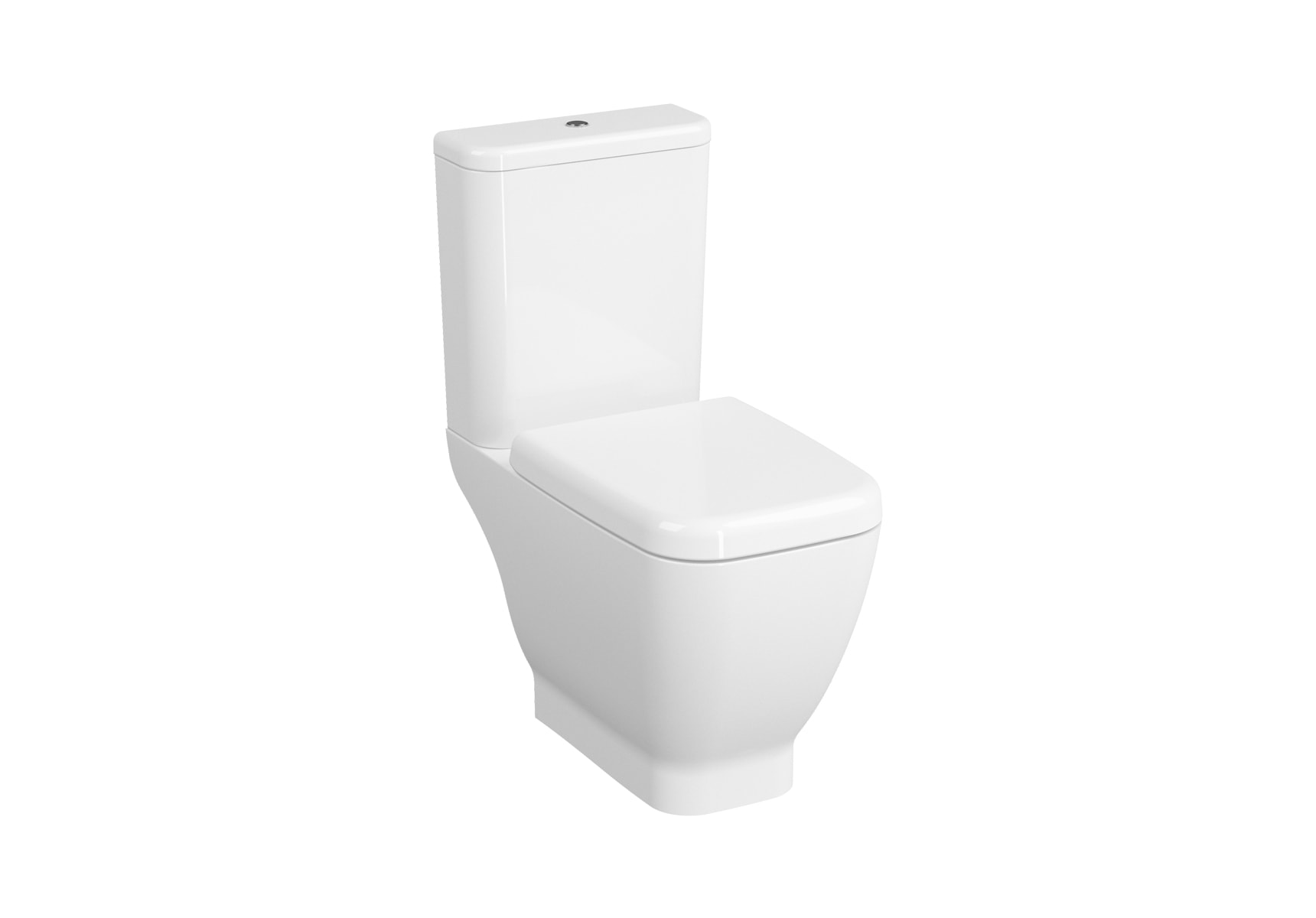 Close-Coupled WC Pan, Open-Back, 65cm