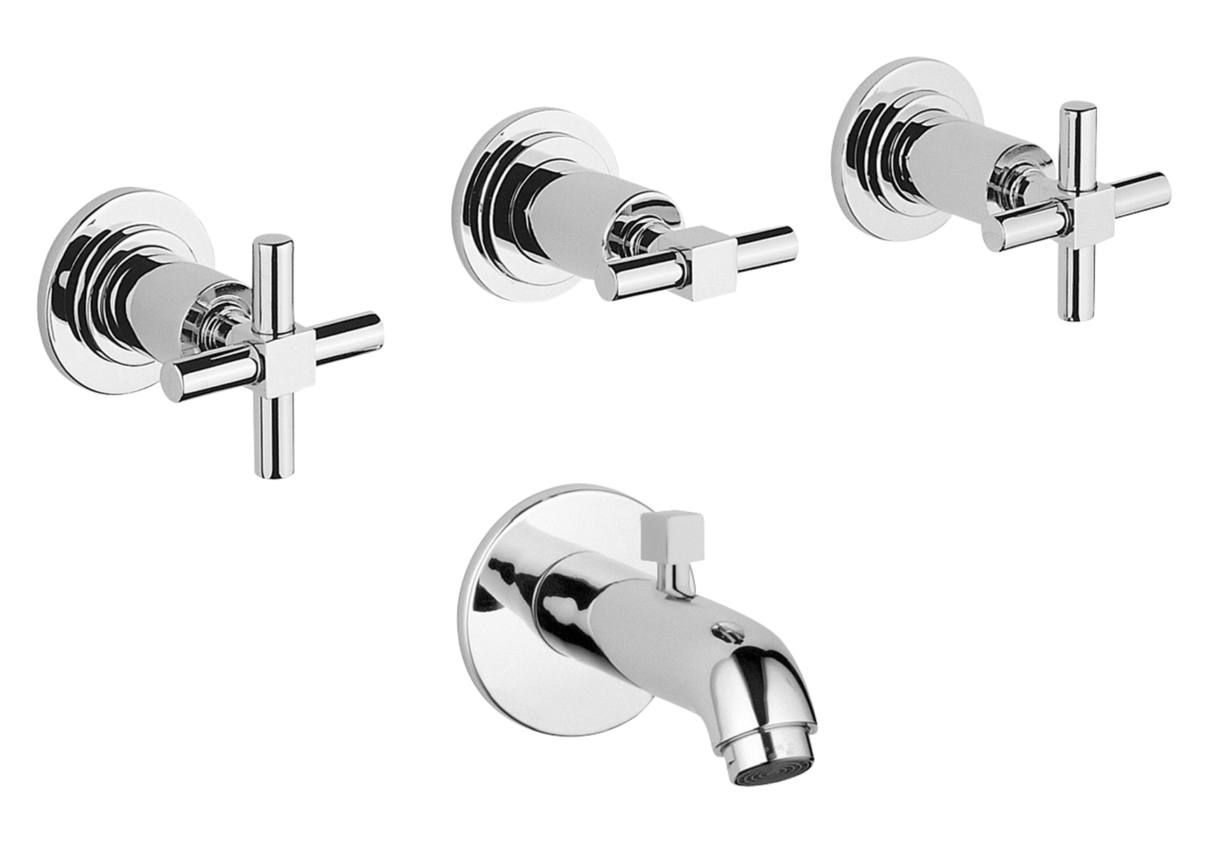 Juno Built-In Bath/Shower Mixer (with Handshower Outlet)