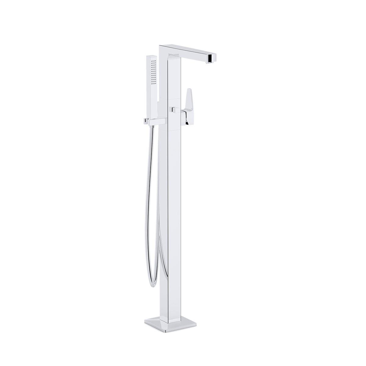 Bath mixer (with handshower-floor mounted)