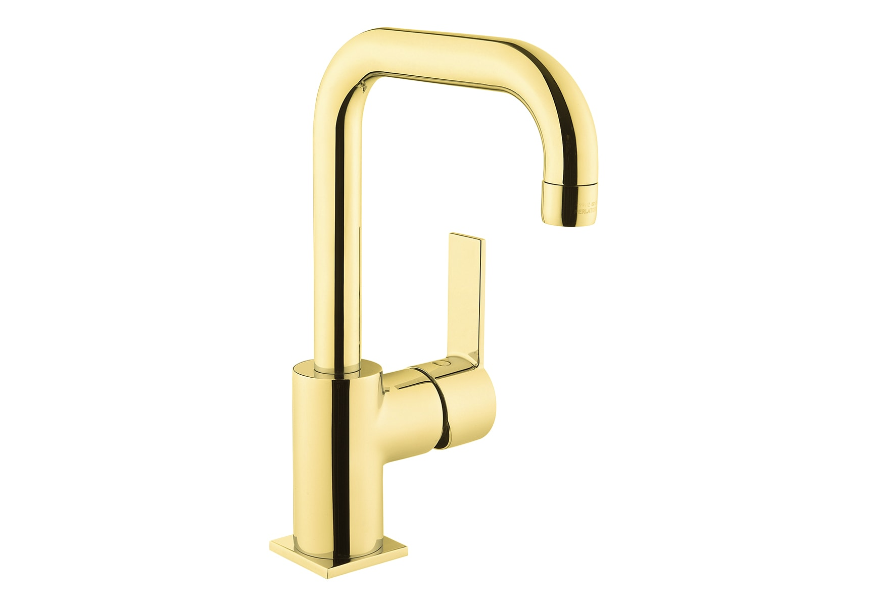 Flo S Basin Mixer , With Swivel Spout, Gold