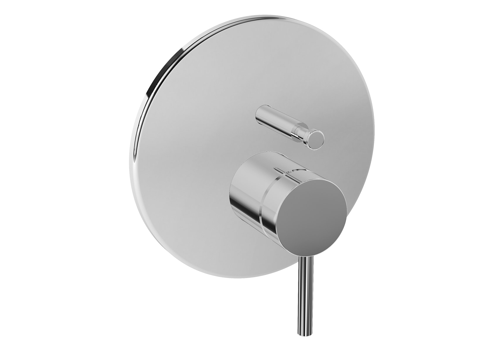 Pure Built-In Bath/Shower Mixer, V-Box-Exposed Part, Chrome