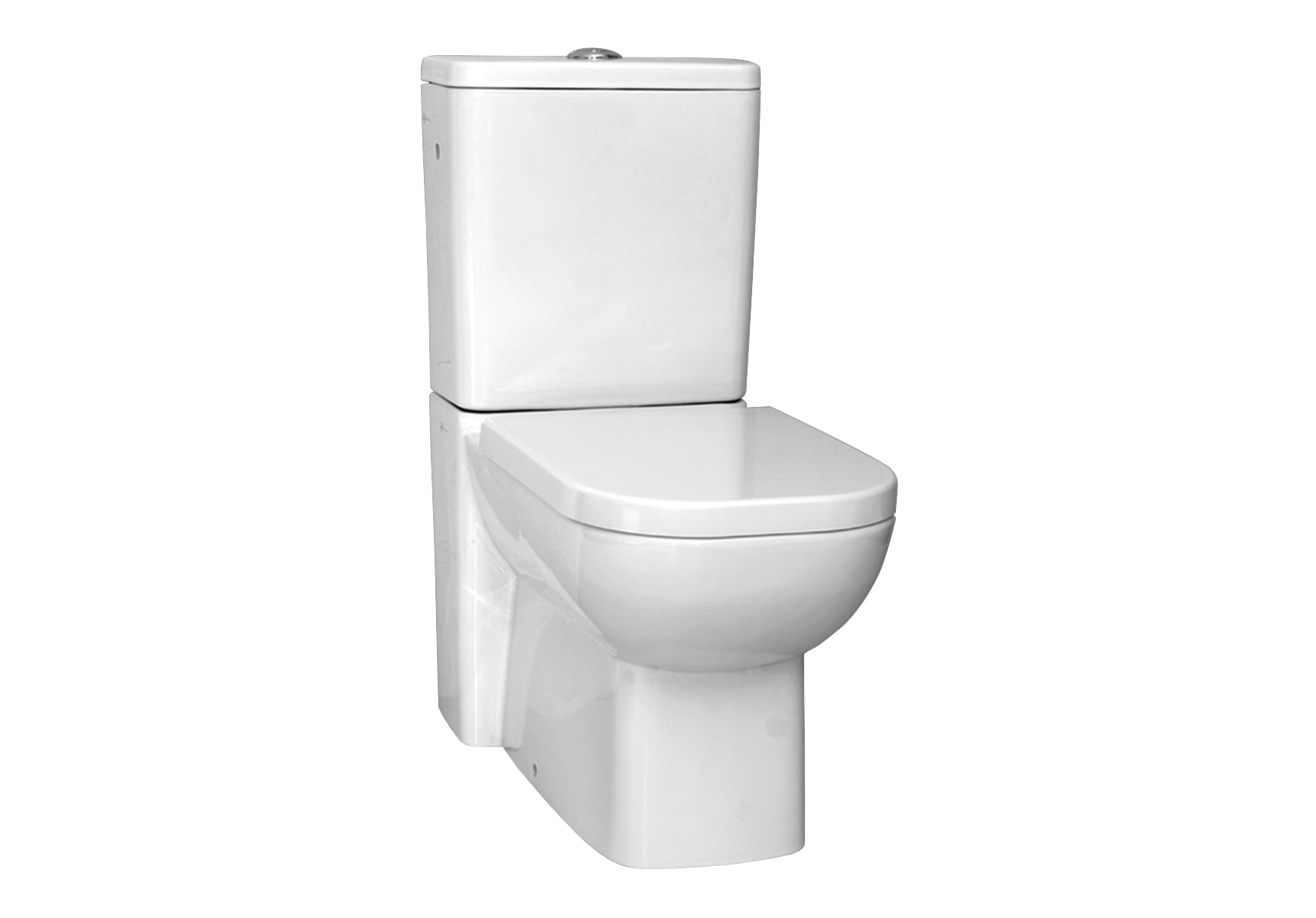 Back-To-Wall Close-Coupled Wc Pan with Universal Outlet