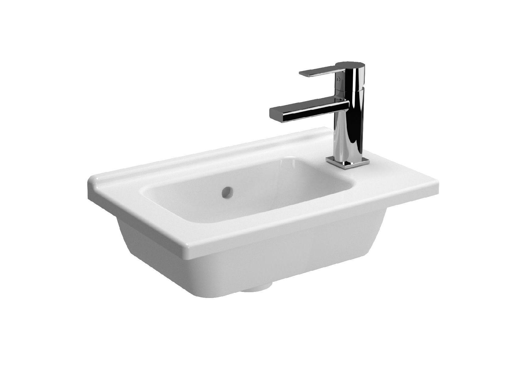 S50 Compact Right Vanity Basin, 45x28cm