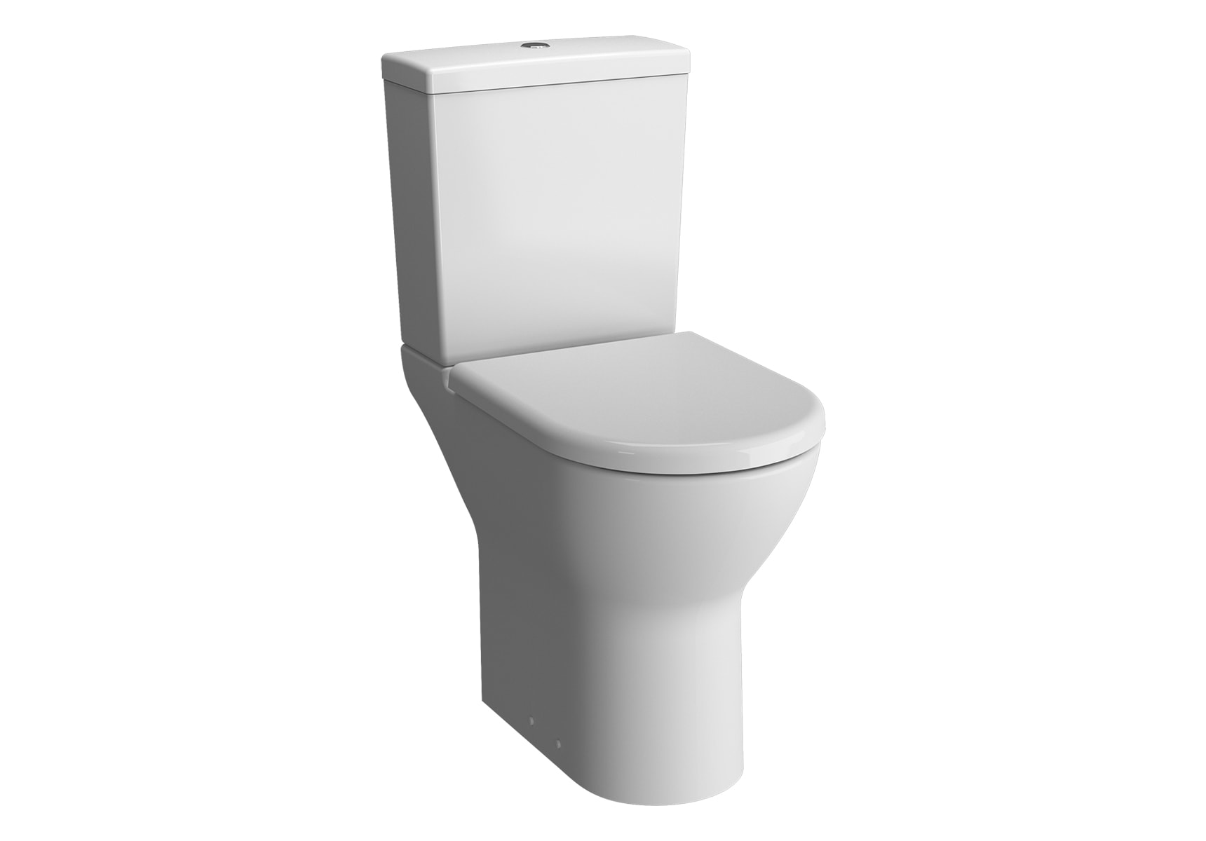 S50 Close-Coupled WC Pan, 65cm, High Universal Outlet (Short) without Bidet Pipe