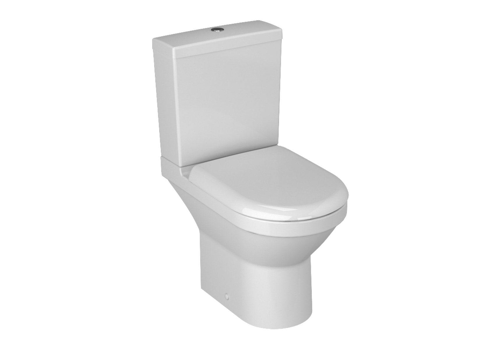 S50 Compact Close-Coupled WC Pan, 60cm Universal Outlet, Kısa without Bidet Pipe