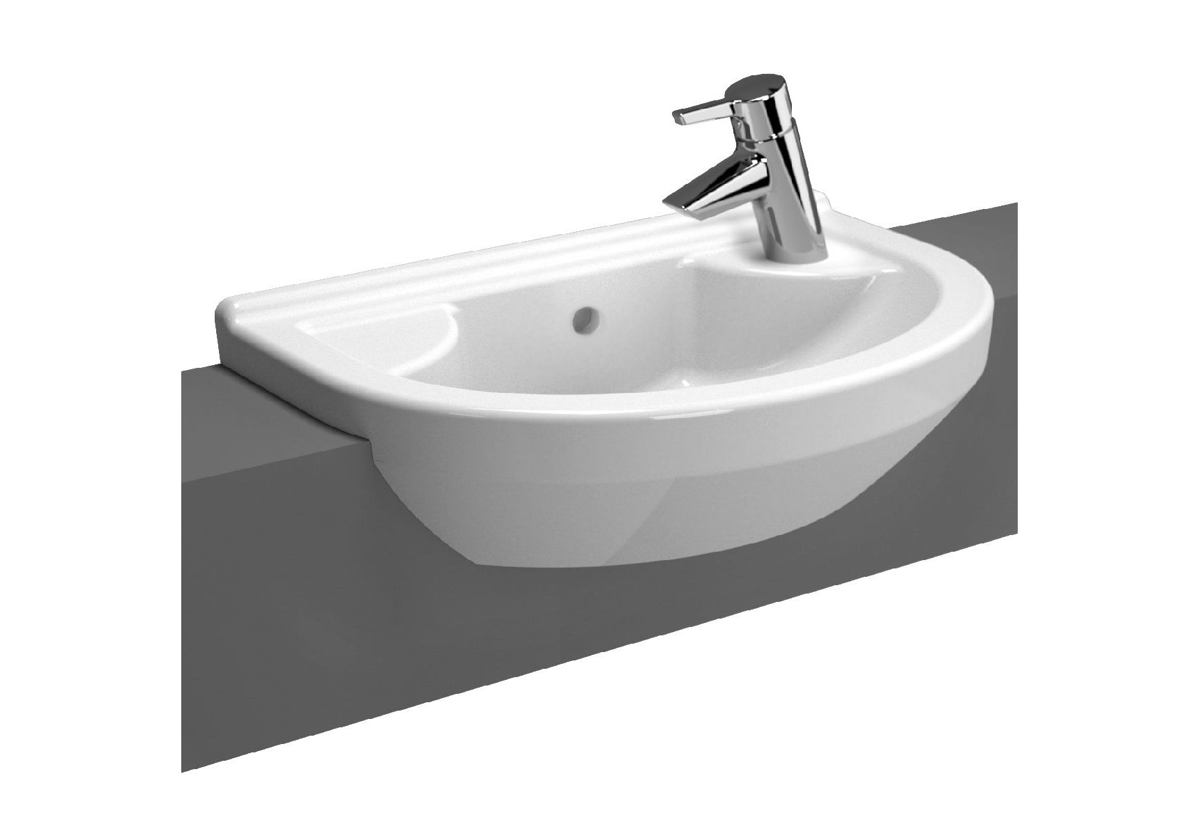 S50 Compact Recessed Basin, 55cm, Compact