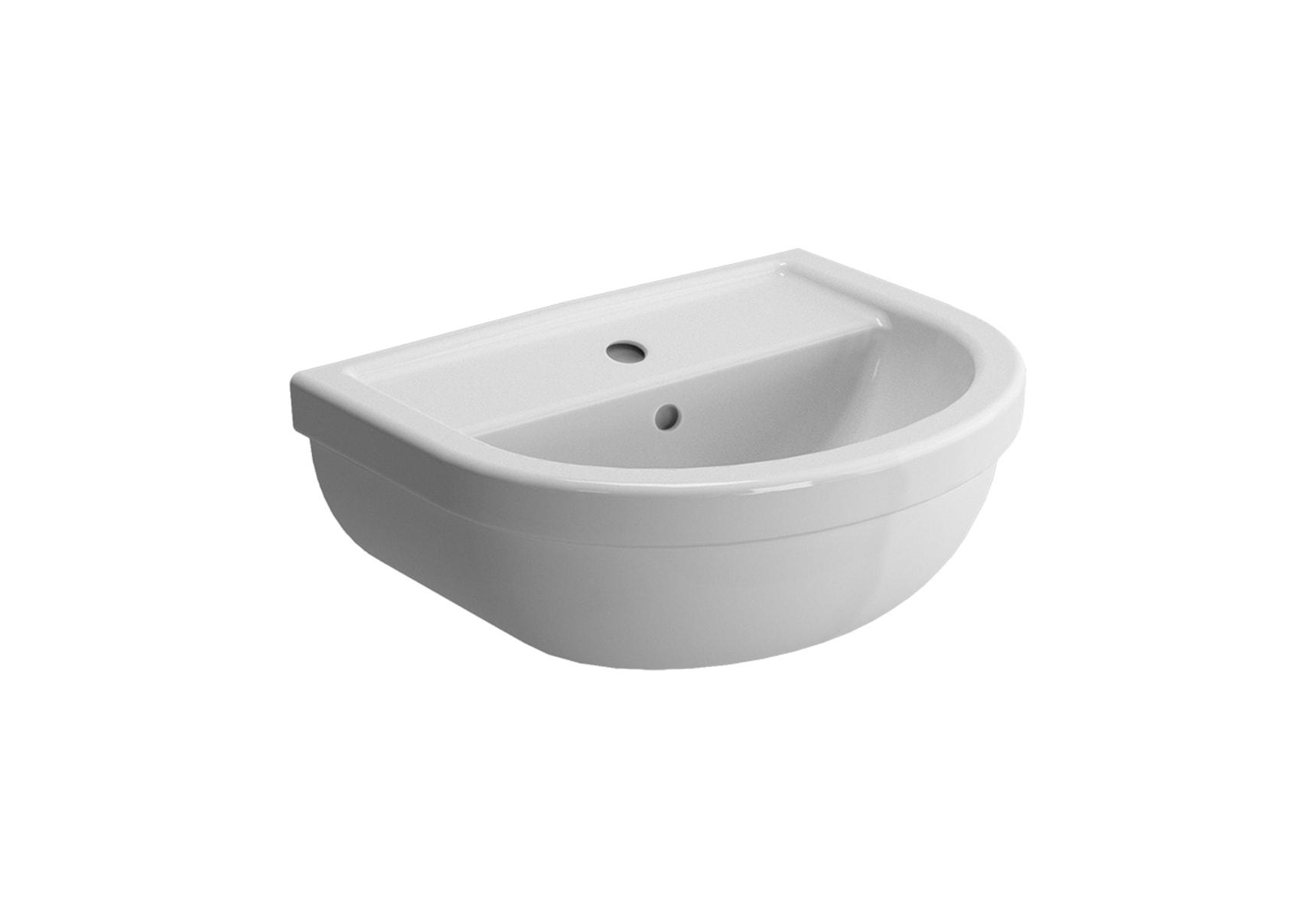 Washbasin, 45 cm, One Tap Hole, With Overflow Hole