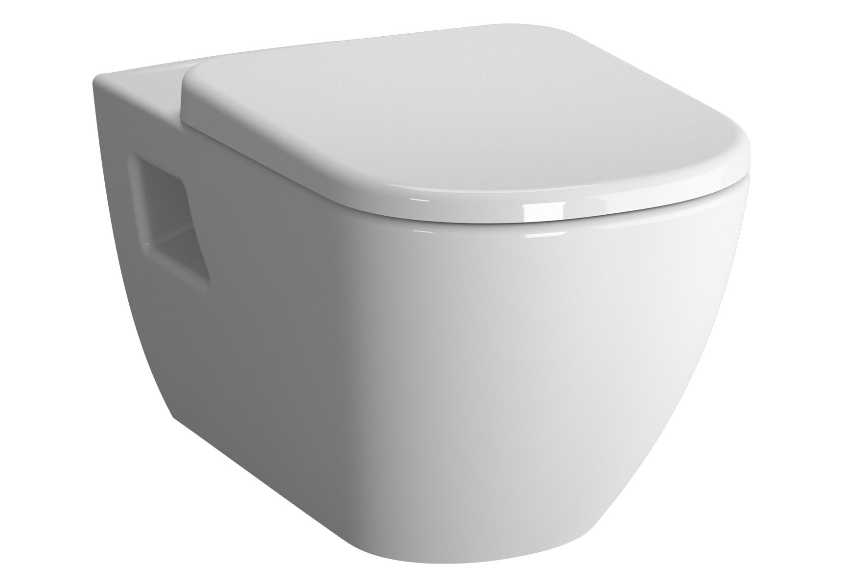 D-Light Wall-Hung WC Pan Lid (without Bidet Pipe)