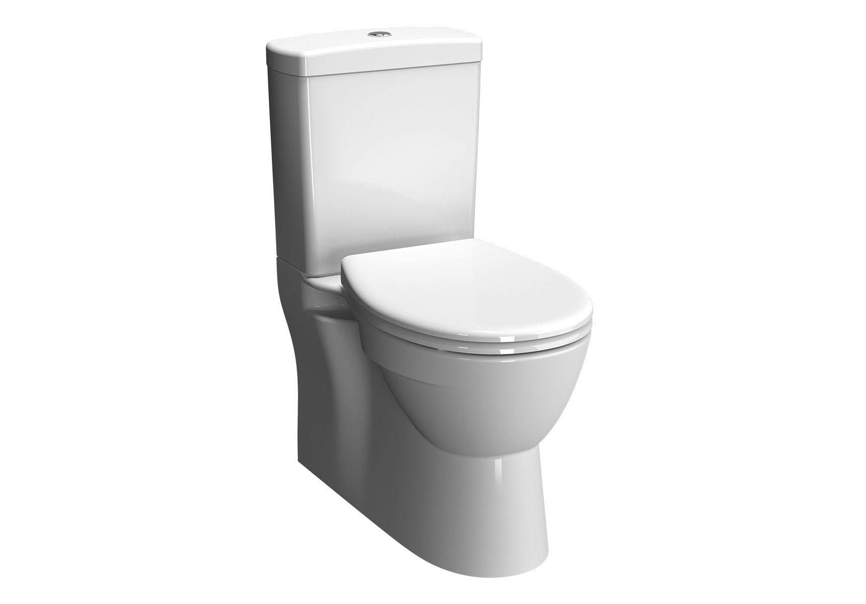 Close-coupled WC Pan with bidet function, with side holes