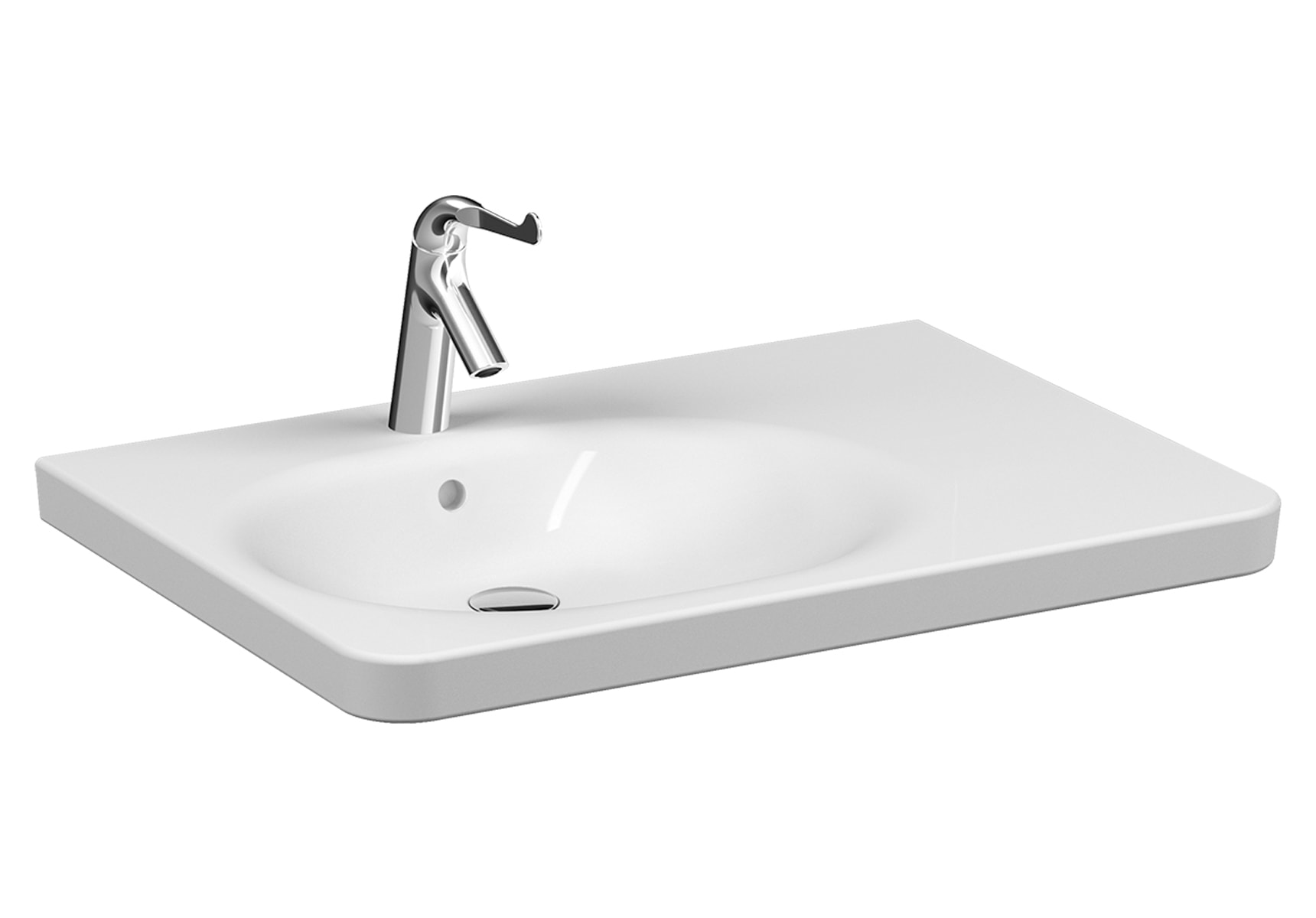 Special Need's Asymmetrical washbasin, 80 cm