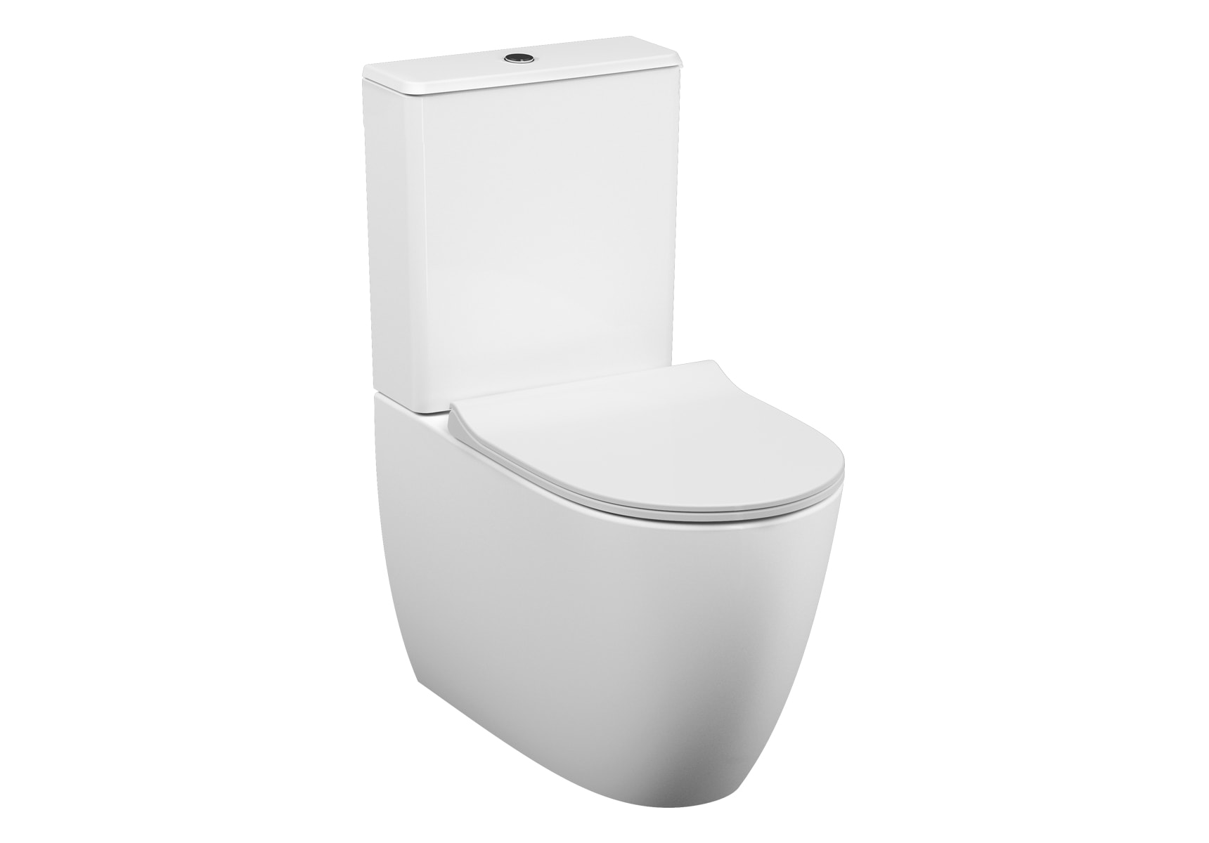Sento Rim-ex Close-coupled WC Pan, back-to-wall, 65cm, universal outlet, water connection from side, white