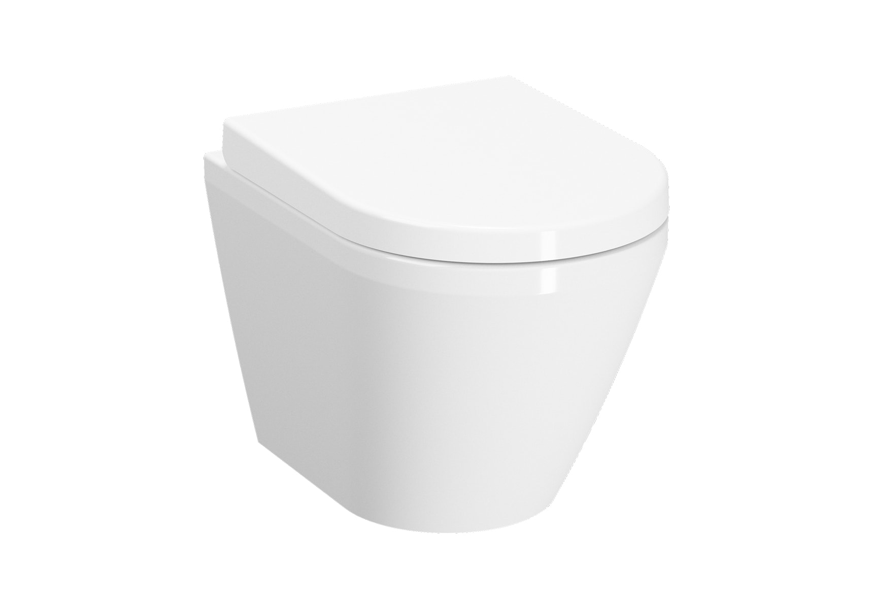 Rim-Ex Wall-Hung WC Pan, Hidden Fixation, Compact, 50cm, Without Side Holes