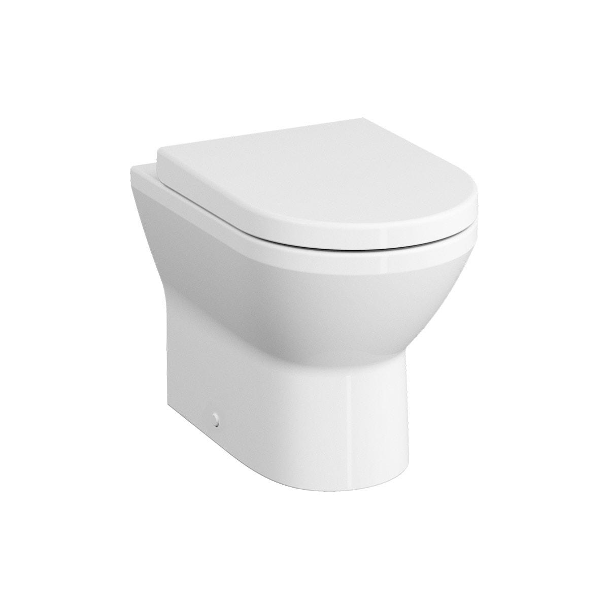 Rim-Ex Single WC Pan, Back-To-Wall, 54cm, Horizontal