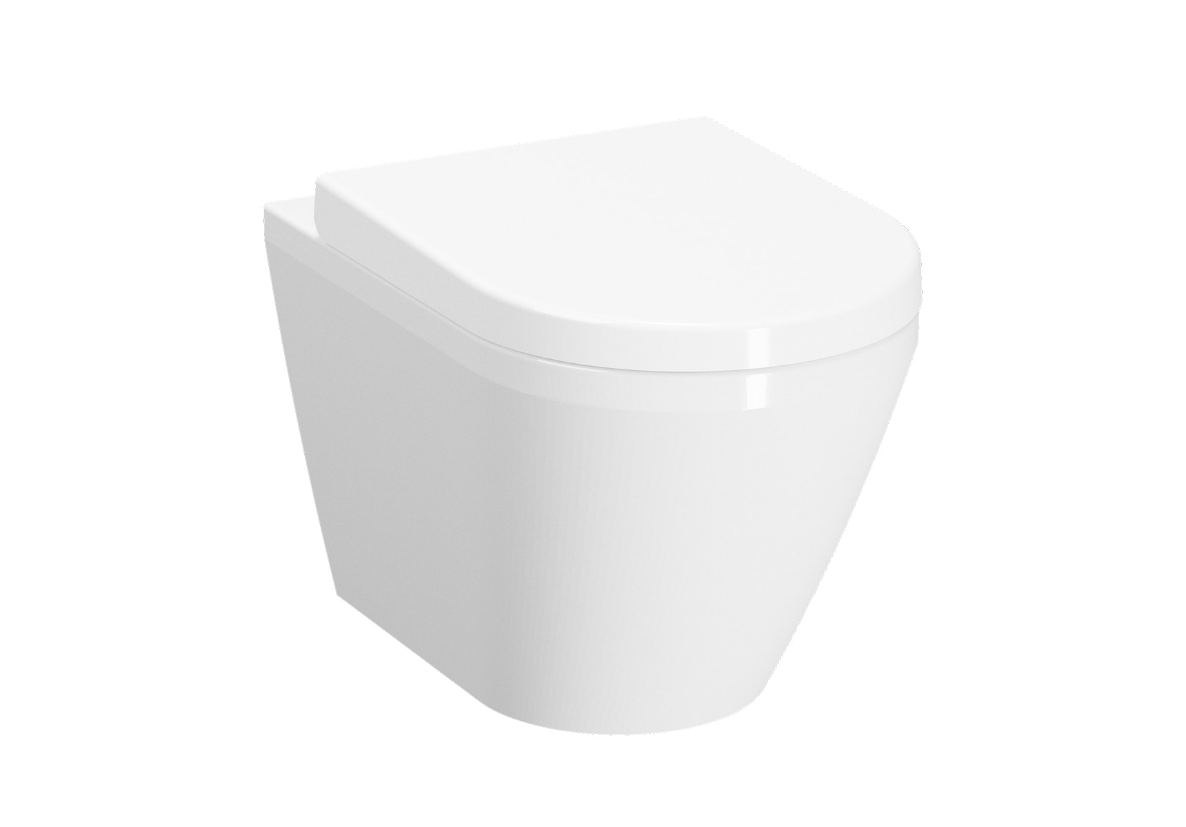 Wall-Hung WC Pan, 54cm, Without Side Holes