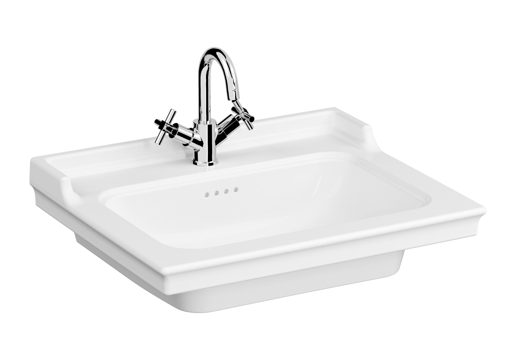 Vanity Basin, 65cm, One Tap Hole, With Overflow Hole