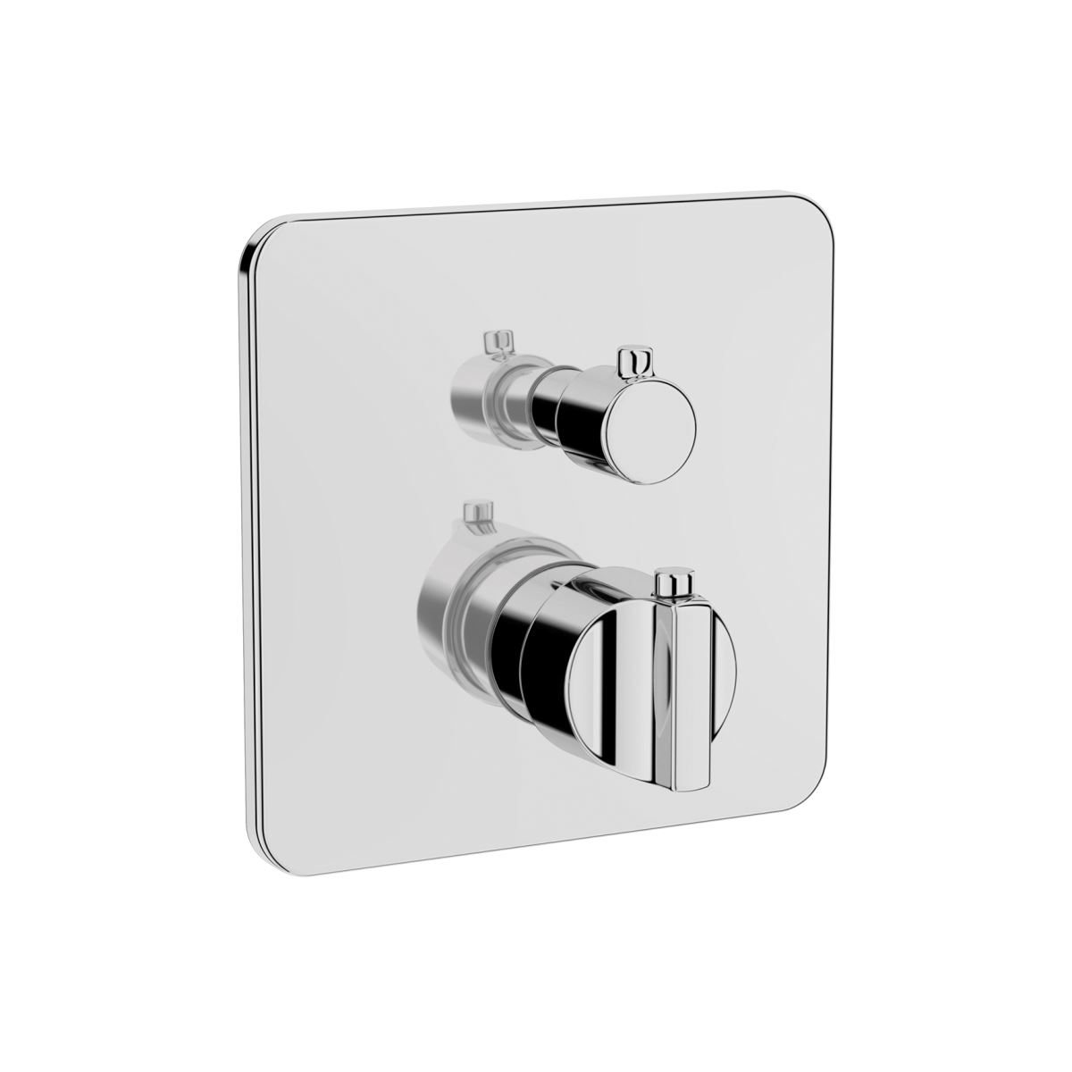 Suit Built-In Thermostatic Bath/Shower Mixer, V-Box-Exposed Part, Chrome