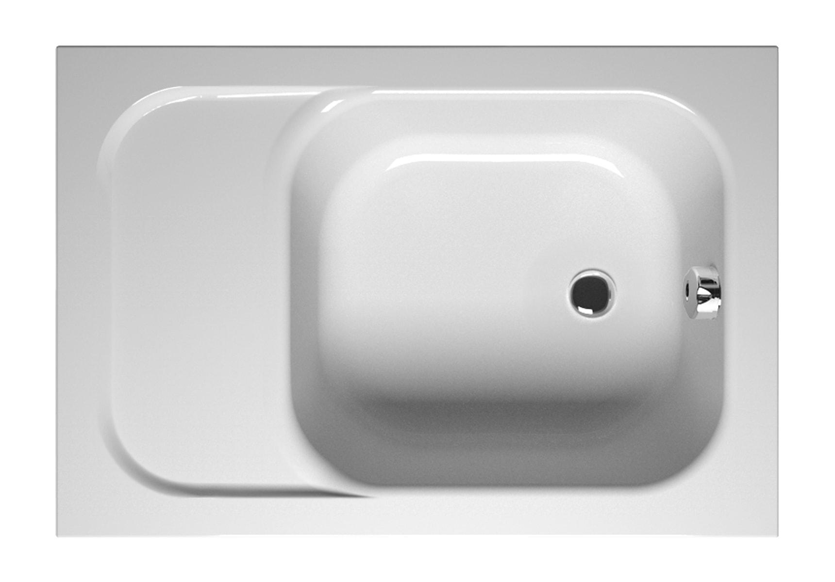 Balance 110x75cm Rectangular with Seat Bathtub