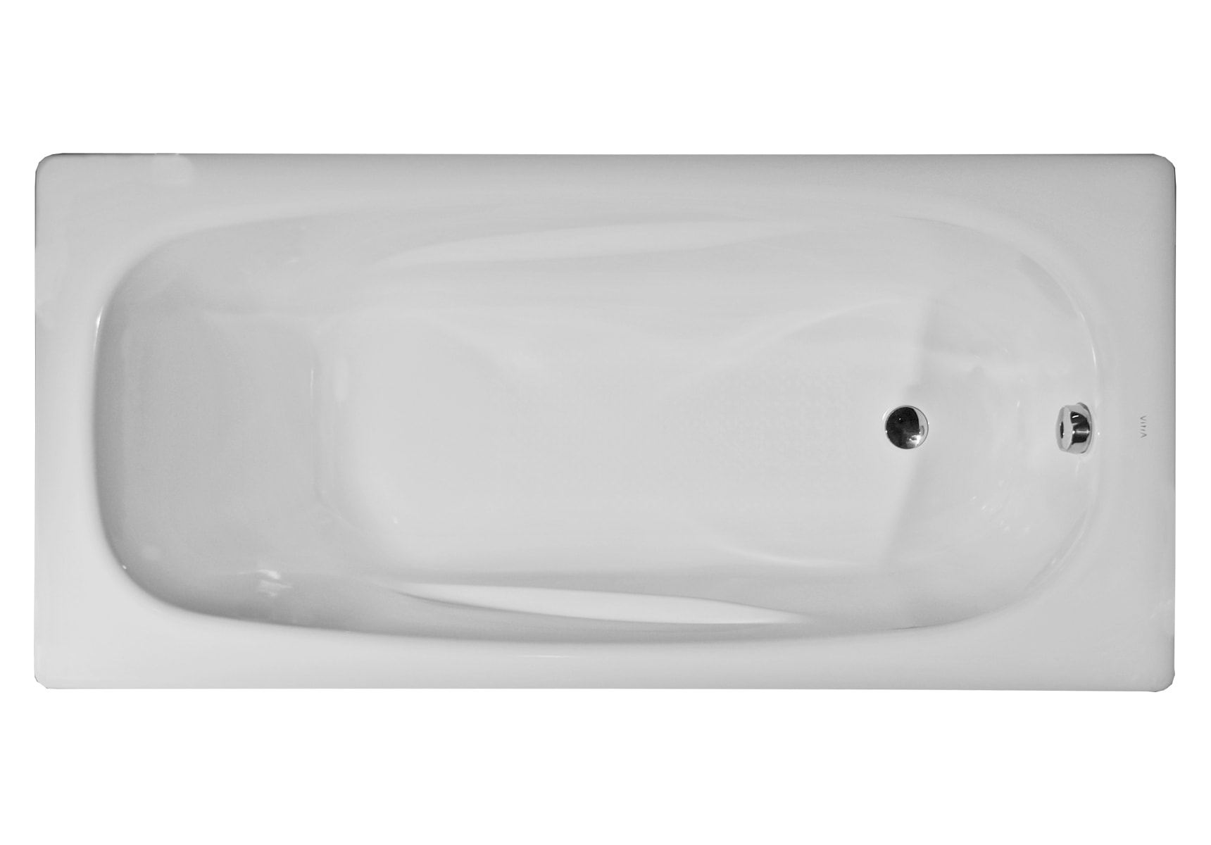 Generic Ergo 160x75cm Steel Bathtub, 3.5mm, Sound Proofing Pad