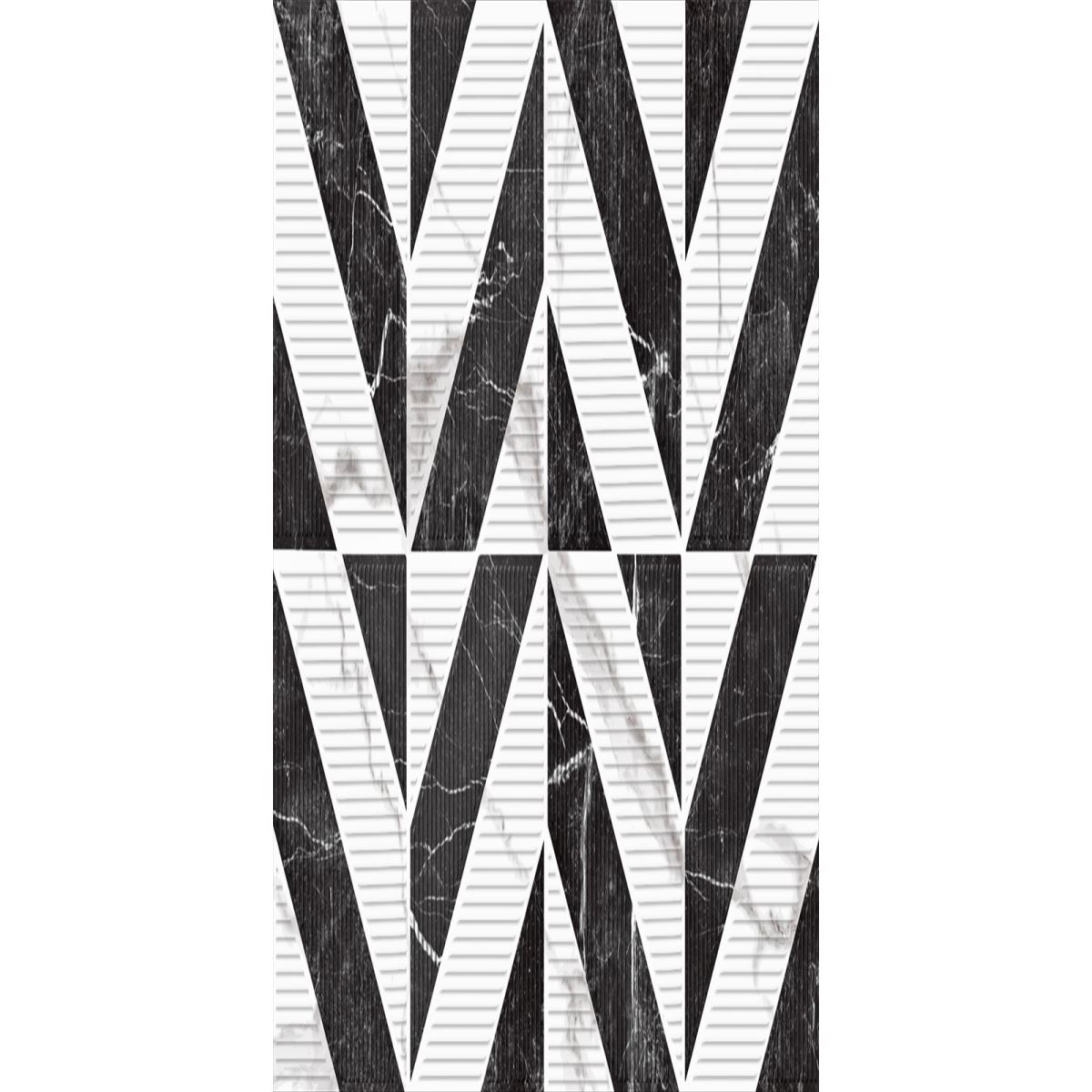 MARBLE / BLACK& WHITE STAR XL DECOR