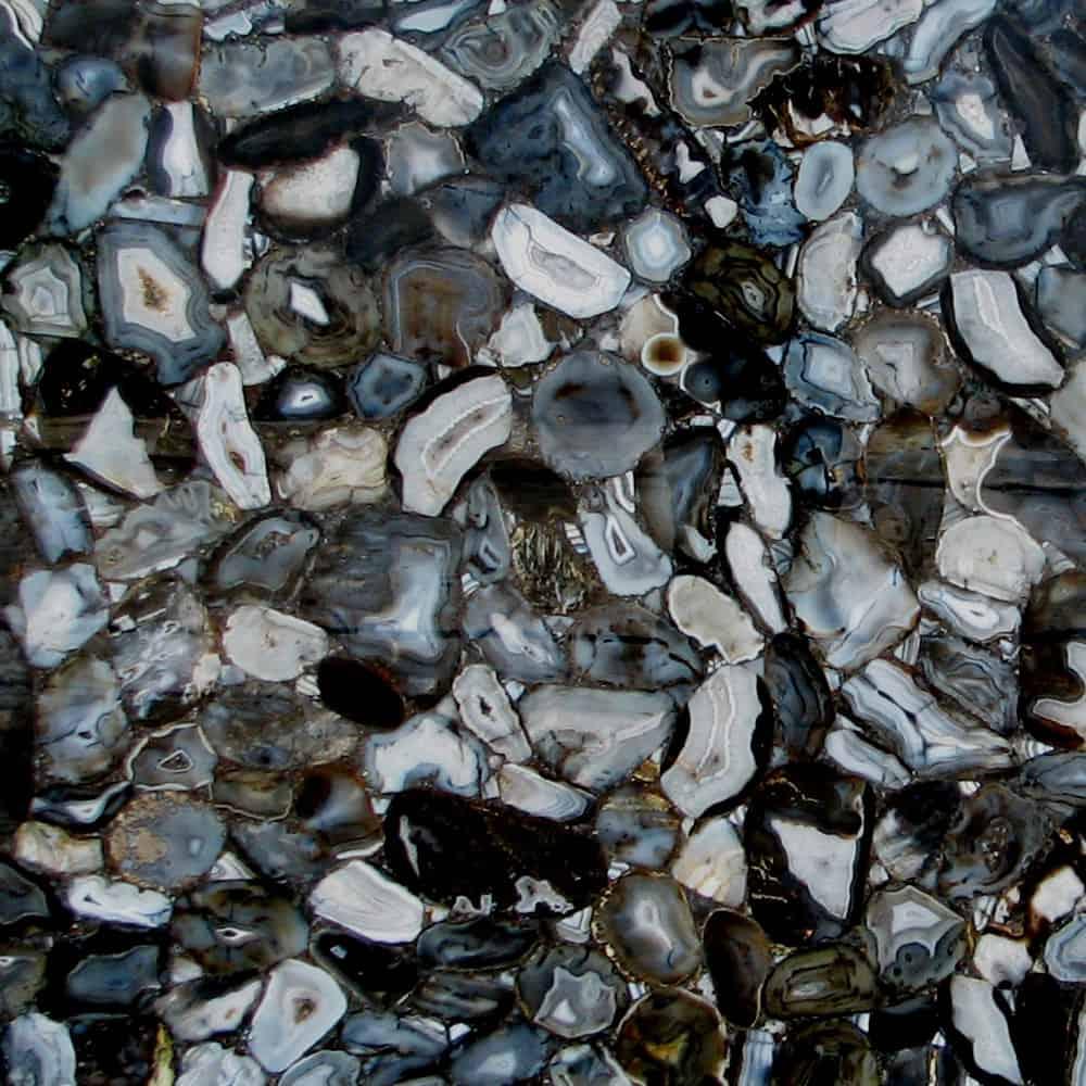 Banded Black Agate
